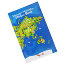 World Map with Reusable Stickers Activity Kit