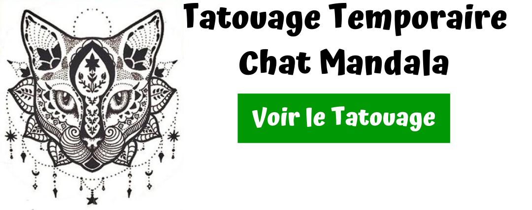 tatouage chat mandala
