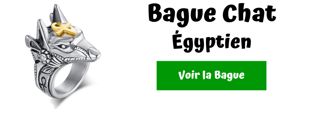 bague chat egyptien