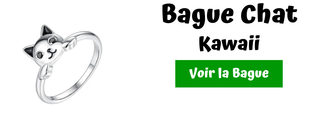 bague chat kawaii