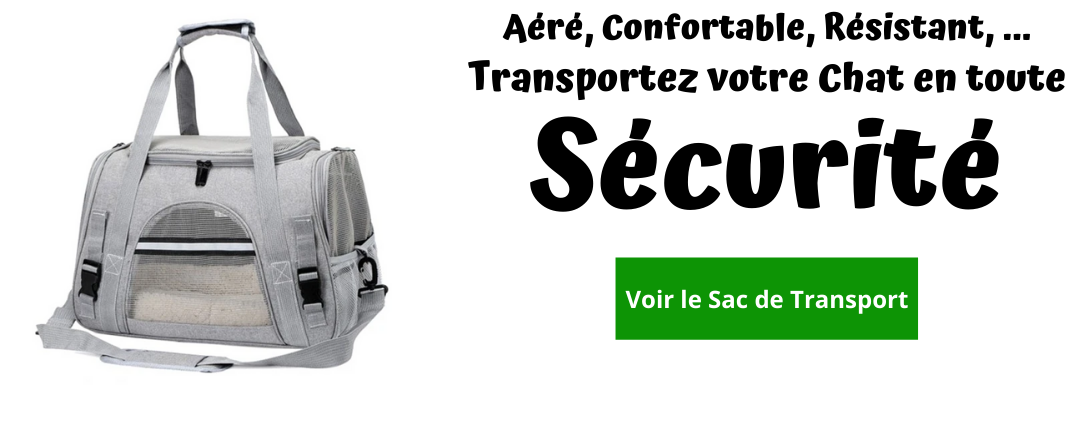 sac transport chat confortable