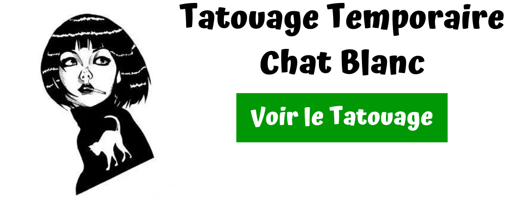 tatouage chat blanc