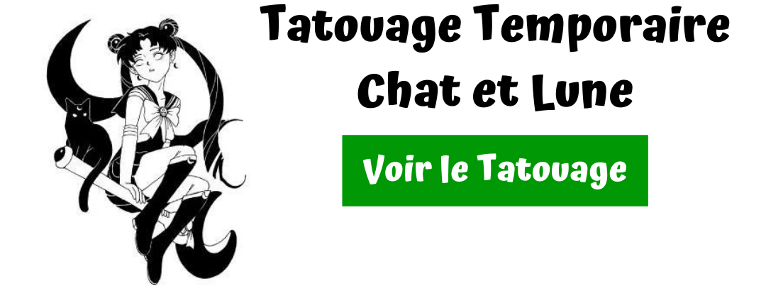tatouage chat lune