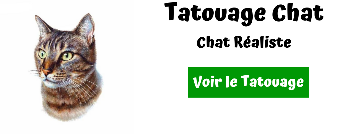 tatouage chat realiste