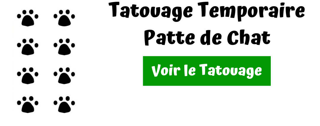tatouage patte de chat