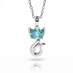 pendentif chat or 18 carats