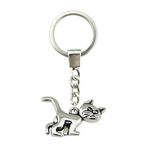 Porte-Clef Chat Metal Argent