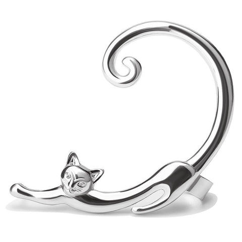 Boucles oreilles chat queue
