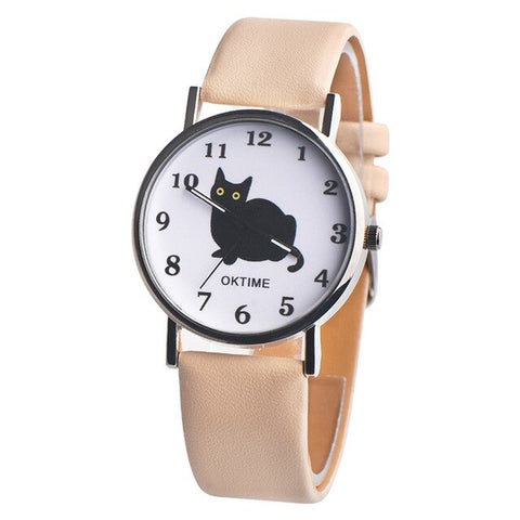 montre chat noir