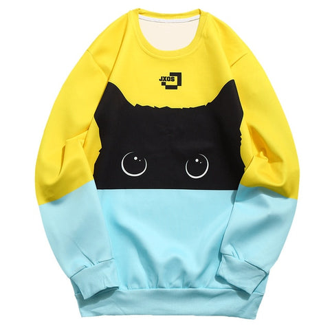 Pull Homme Chat<br> Bicolore