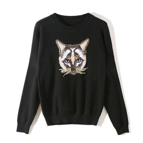 Pull Femme Chat<br> Moustache Tentaculaire