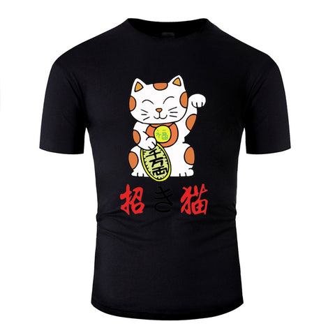 T-Shirt Homme Chat <br> Maneki-Neko