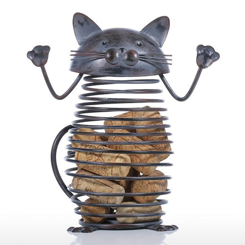 statuette chat metal
