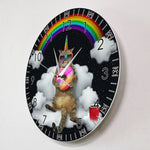 Horloge Chat<br> Arc-En-Ciel