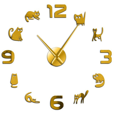 horloge chatons stickers