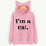 sweatshirt i'm a cat