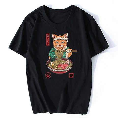 t shirt chat homme ramen