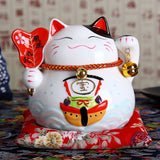 Statue Chat <br> Céramique Maneki-Neko