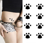 tatouage empreinte patte chat