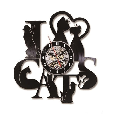 Horloge Chat<br> I Love Cats