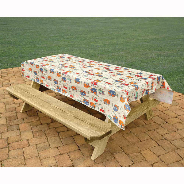 Camping Trails Tablecloth