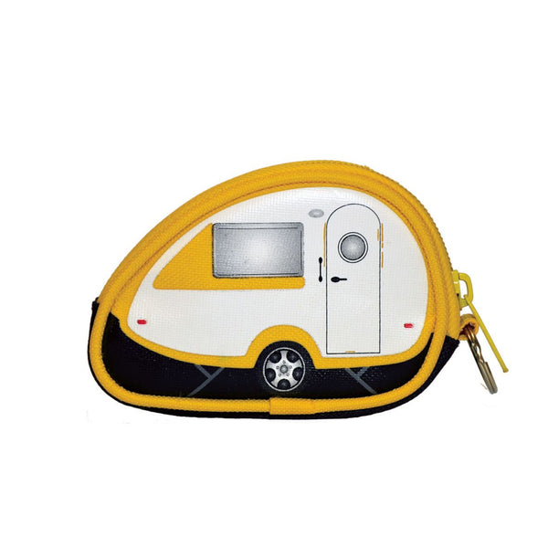 Yellow T@B Teardrop Camper Coin Purse