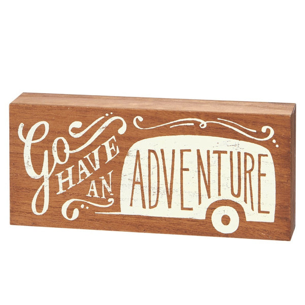 Go Have An Adventure Camper Wall Block