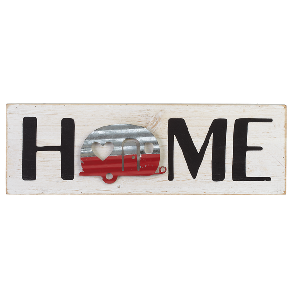 """Home"" with Camper Wall Decor"