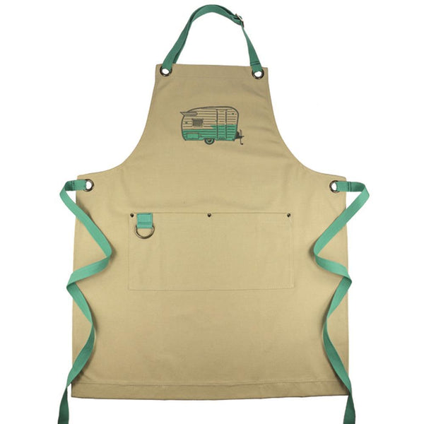 """Wings"" Retro Camper Embroidered Apron"