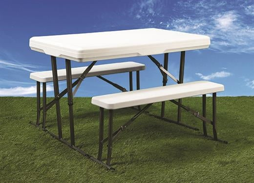 Faulkner Folding Picnic Table & Nesting Benches