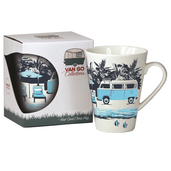 Hippy Days Camper Van Bone China Mug