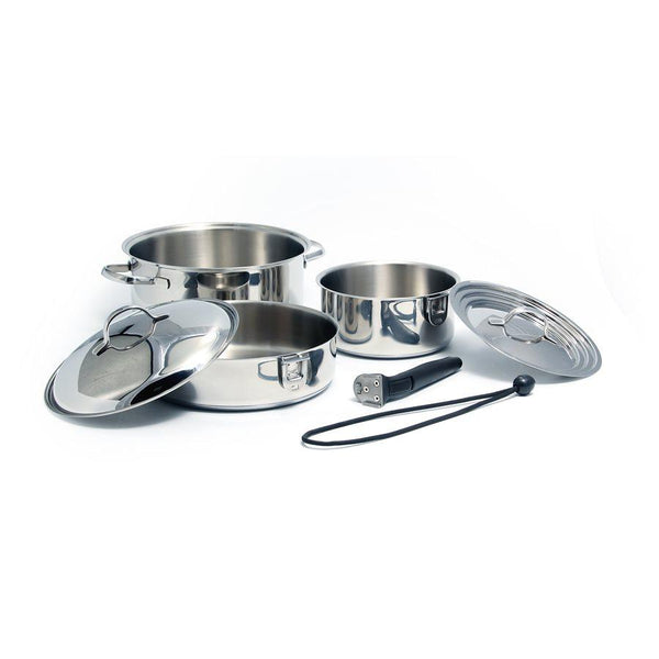 Camco 7 Piece Stainless Steel Ceramic Cookware
