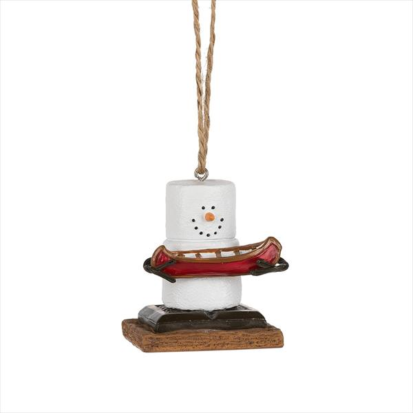 S'mores Canoe Ornament