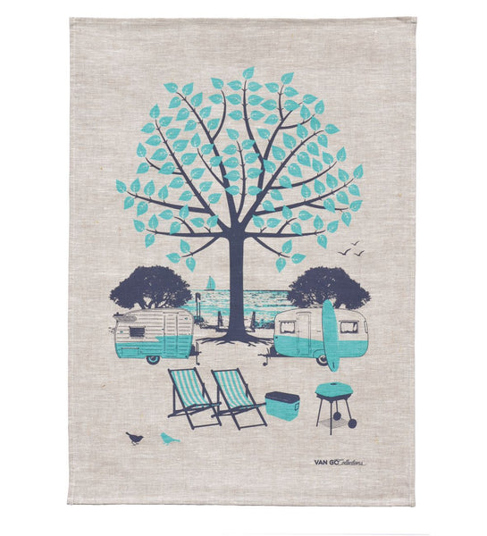 Summer Trailers Tea Towel