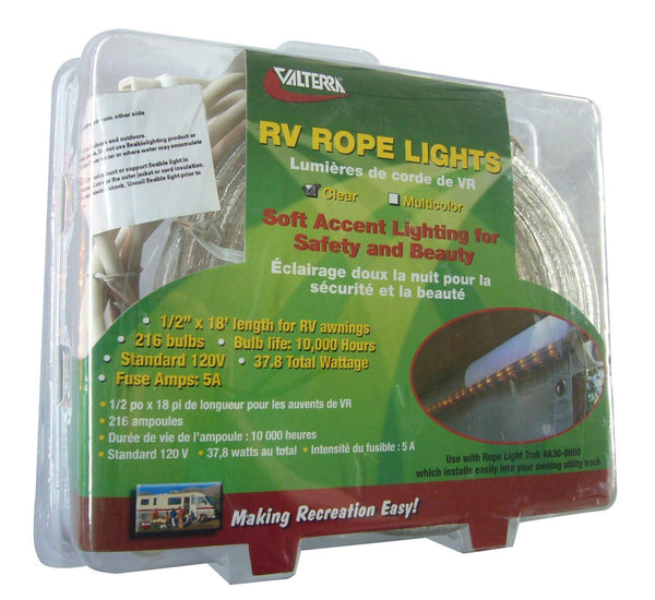 Valterra 18' Rope Lights - Clear