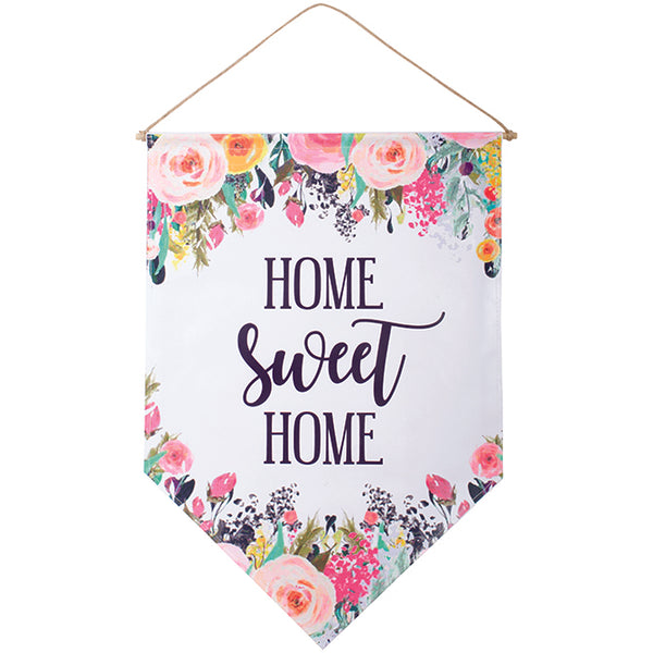 """Home Sweet Home"" Floral Banner"