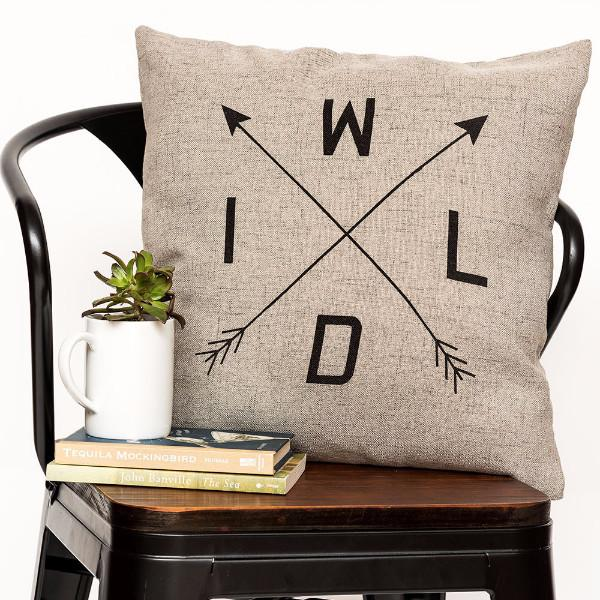 "Wild 18"" x 18"" Throw Pillow"