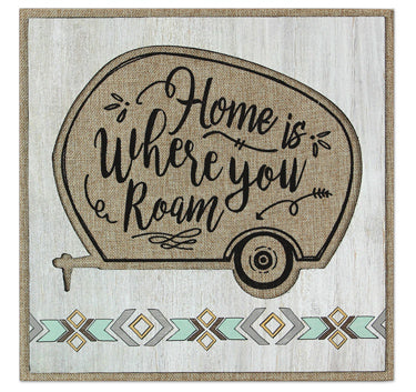 Wood With Burlap Camper Sign