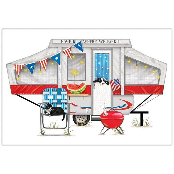Camper Patriotic Bagged Towel