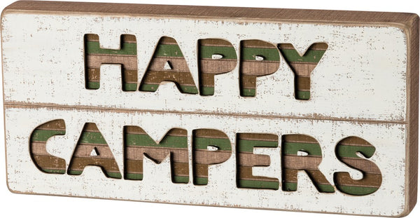 Happy Campers Slat Box Sign