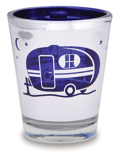 Metallic Shot Glass with Camper