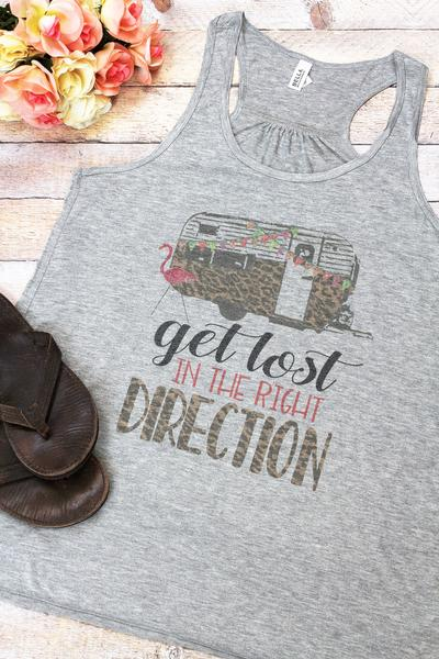 The Right Direction Women's Flowy Racerback Tank