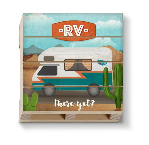 RV There Yet Pallet Coaster