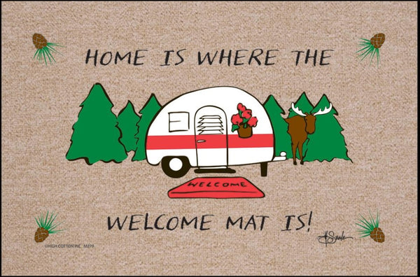 Home Is Where The Welcome Mat Is Doormat