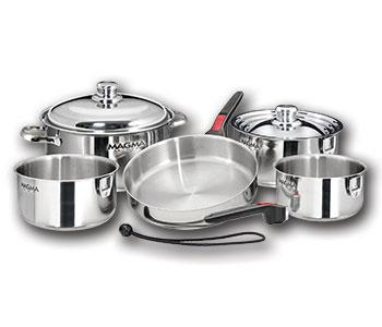 Magma 10-Piece Gourmet Nesting Induction Cookware Set