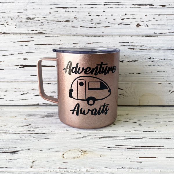 Adventure Awaits T@B Trailer Stainless Steel Mug