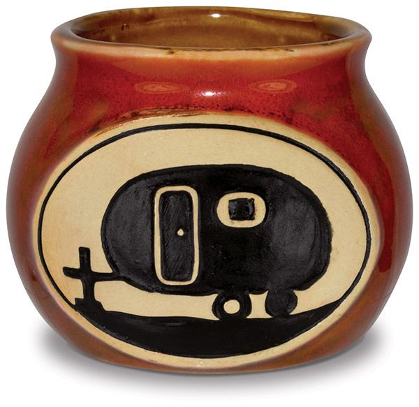 Bean Pot Shot Glass with Camper