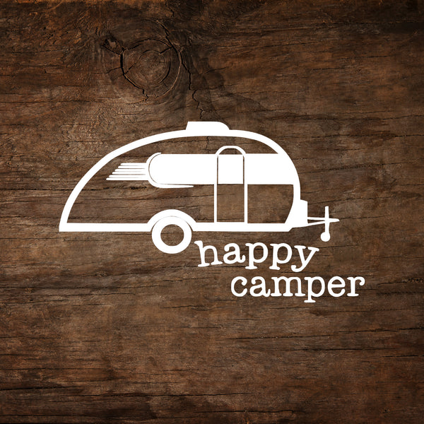Happy Camper Little Guy Max Window Decal