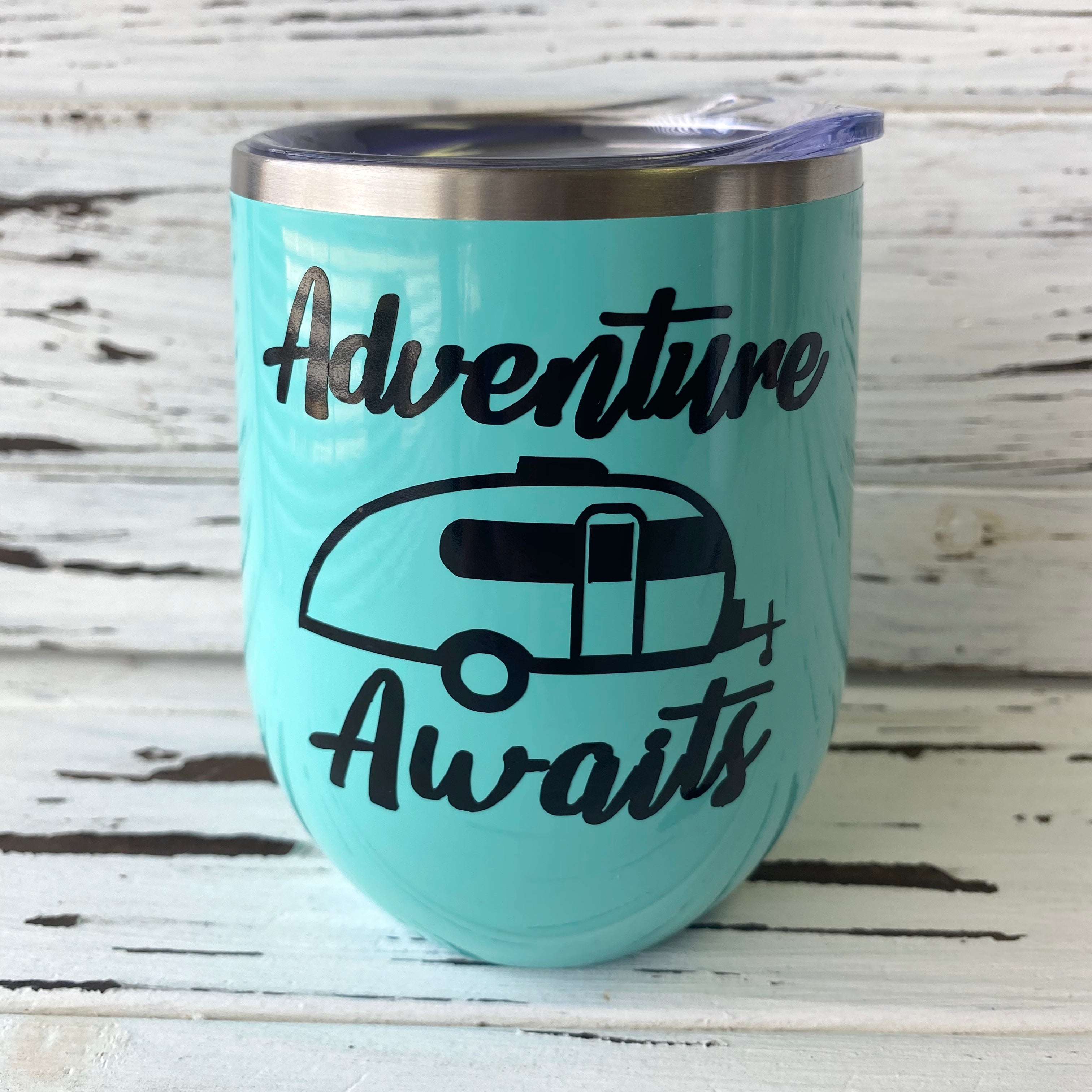 I/'d Rather Be Camping Pop-Up Camper Stainless Steel Wine Tumbler