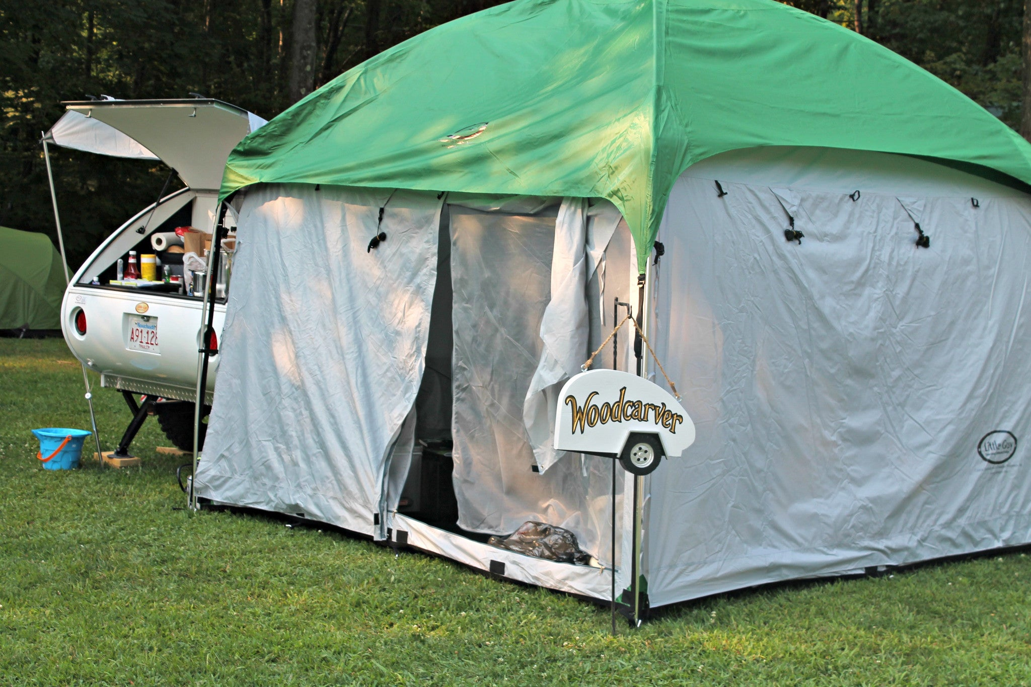 10x10 side mount screen room tent by pahaque teardropshop com